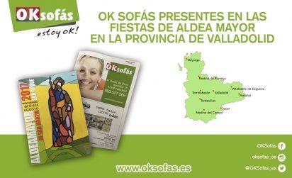 OK Sofás presentes en las fiestas de aldea Mayor en Valladolid