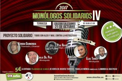 Por cuarto año consecutivo llega a Terrassa, Los Monólogos solidarios IV.