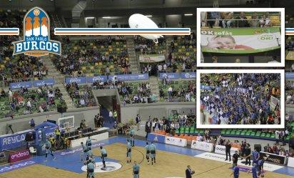 OKSofás apoyando C.B San Pablo BURGOS - Presentes en el estadio del San Pablo BURGOS en su ascenso a la ACB