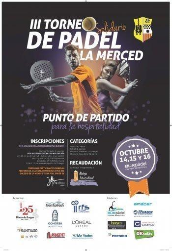 OKSofás Burgos con el III Torneo Solidario de Pádel La Merced