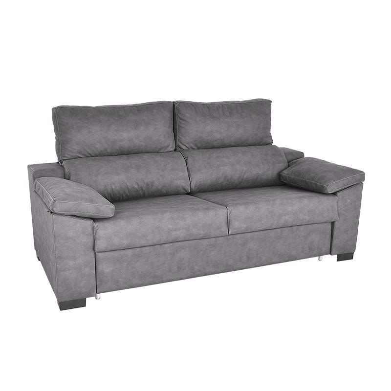 Sofá Cama extendido modelo Dona opción cabezal reclinable.