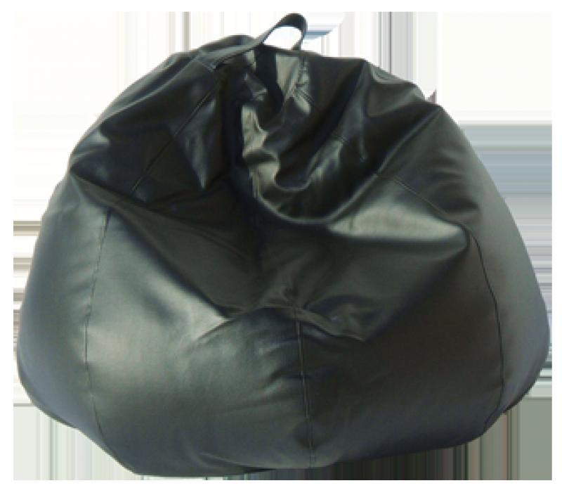 Pouf en forma de pera de color negro