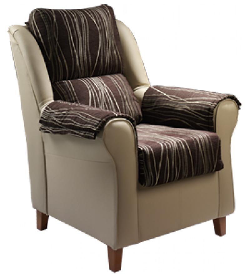 Sillón con asiento, respaldo y brazos desenfundables modelo clasic