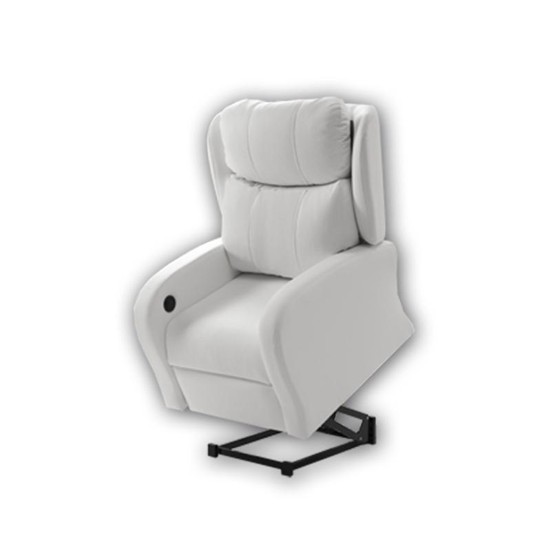 Sillón modelo Alcor blanco con opción de Power Lift