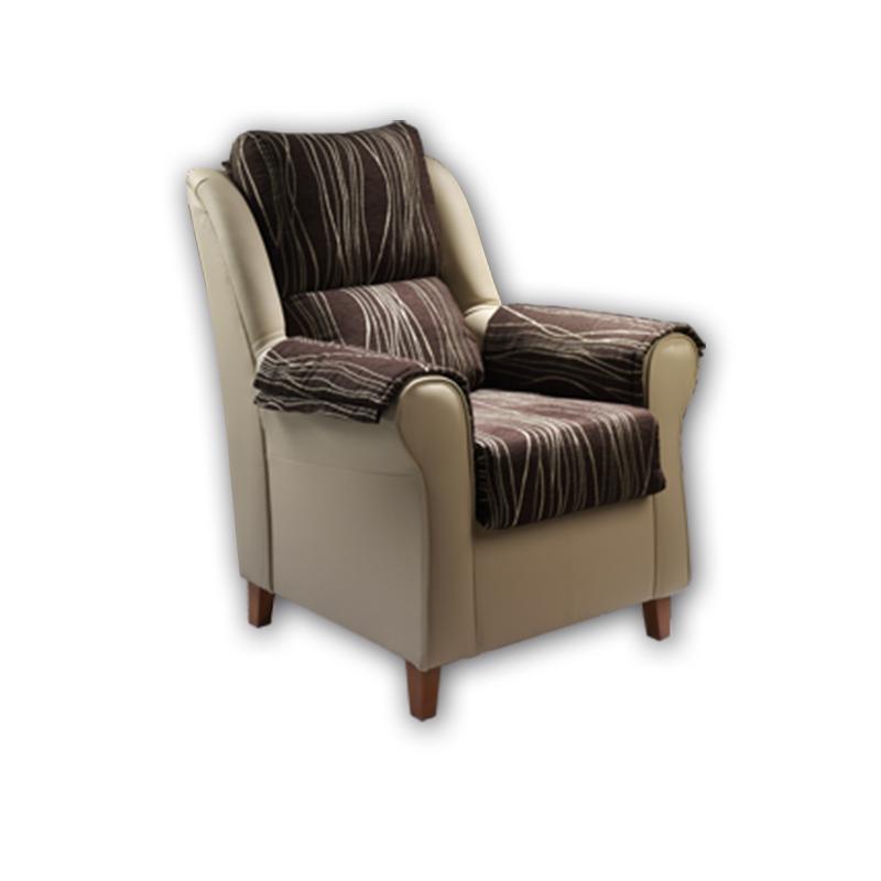 Sillón con asiento, respaldo y brazos desenfundables modelo Clasic.