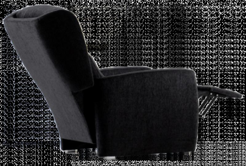 Sillón orejero con sistema relax modelo caven, negro