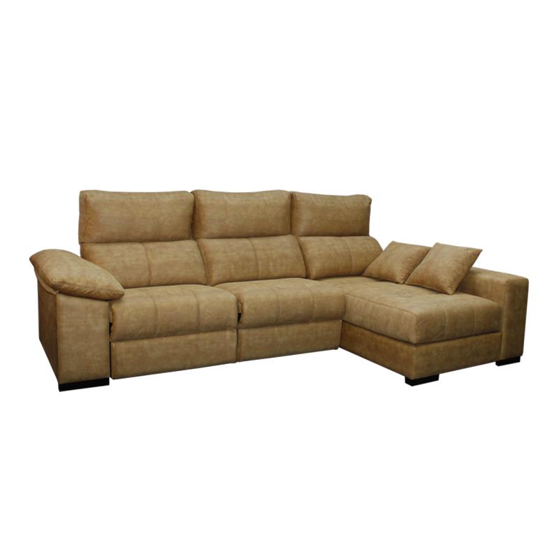 Sofa con asientos reclinables modelo Seda  color claro 3 plazas asientos deslizantes