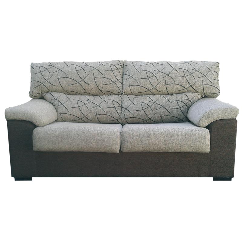 Sofa modelo Timbo 2 plazas color gris diseño moderno.