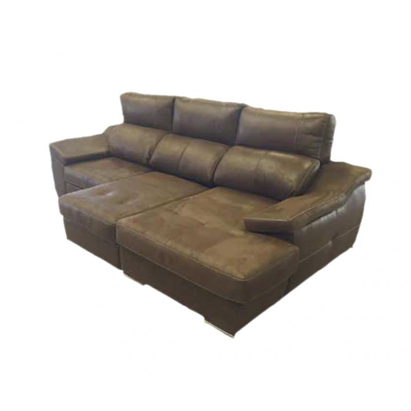 Sofá de 3 plazas modelo Divinity con sistema OK SYSTEM PLUS y chaise longue.