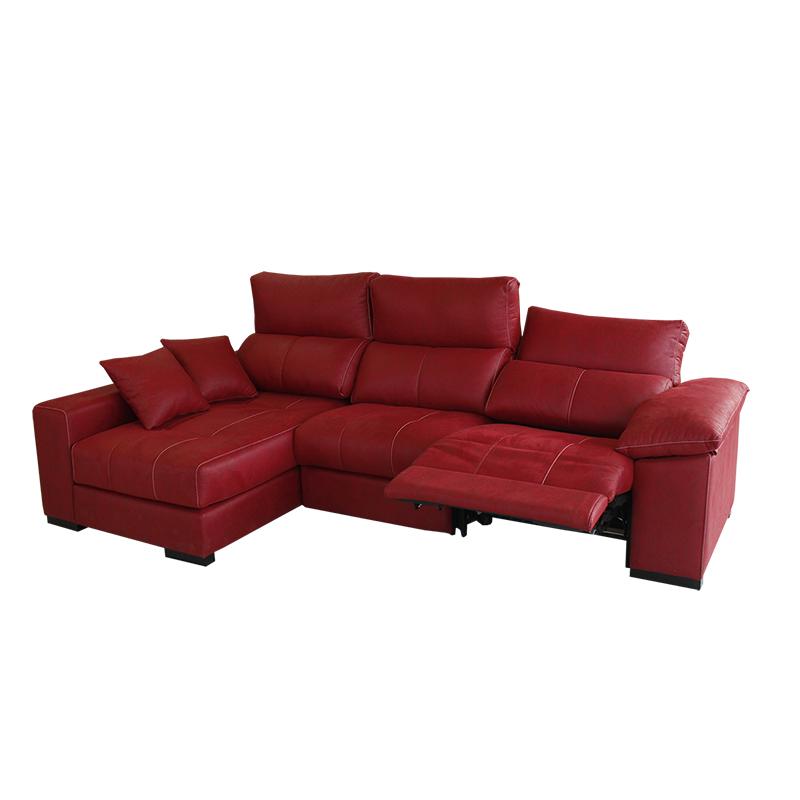 Sofa modelo Seda 3 plazas color rojo abatible asientos se pueden extraer.