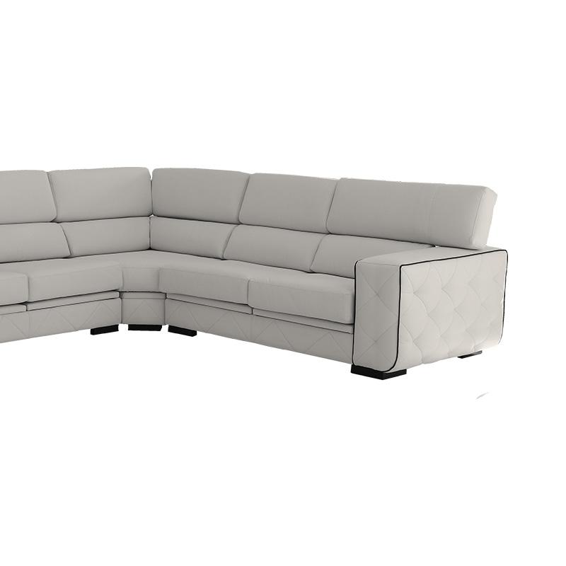 Sofá rinconera  modelo Eden 7 plazas, con asientos extraibles y respaldos reclinables