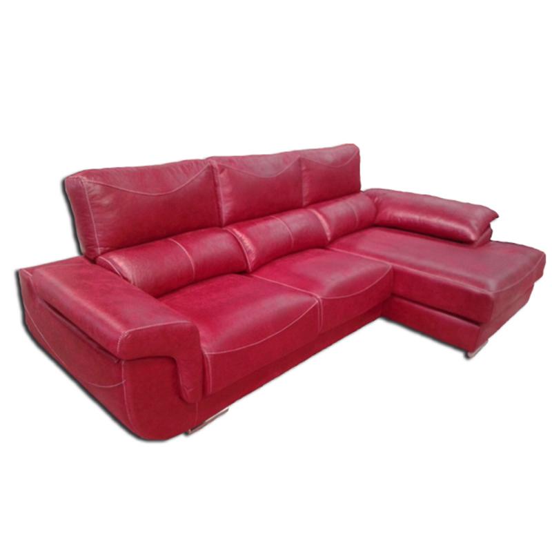 Chaselongue de color rojo con cabezal reclinable modelo Albano