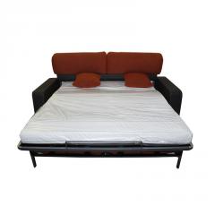 Sofá cama modelo Lola de 2 plazas bicolor vista frontal.