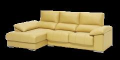 Sofá con chaise longue con arcón live