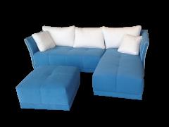 Sofá con puf movible y chaise longue