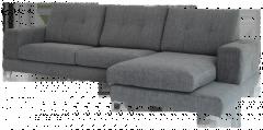 Sofá de 3 lugares con opción de chaiselongue