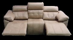 Sofá de pino gallego con sistema relax eléctrico detalle