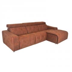Sofá con estructura de pino modelo Kenai de 3 plazas y cabezales abatible.