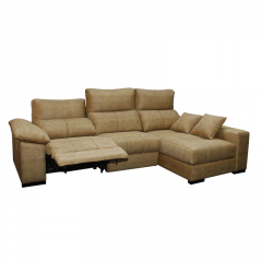 Sofá  modelo Seda de 3 plazas abatibles color claro