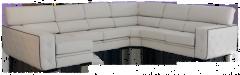 Sofá con asientos extraibles y respaldos reclinables